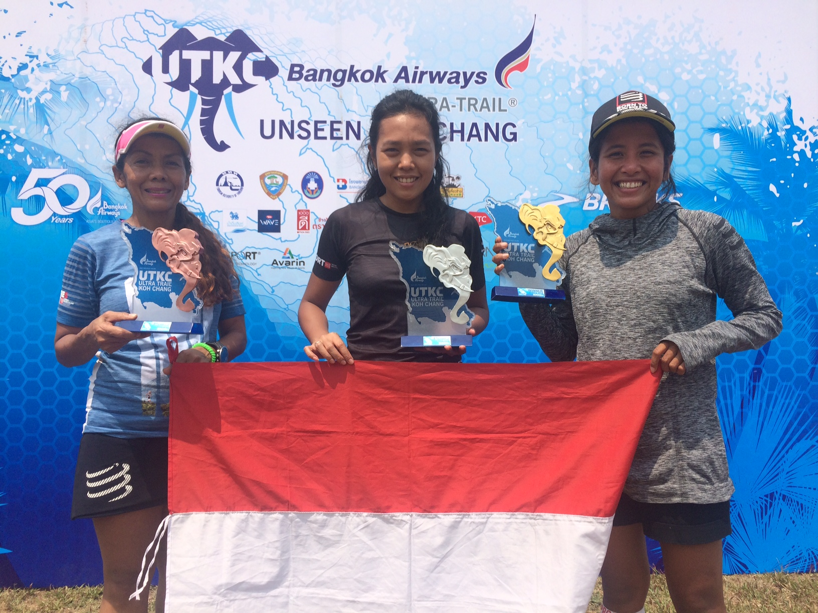 Indonesian women dominated the podium with Ruth Theresia as winner
