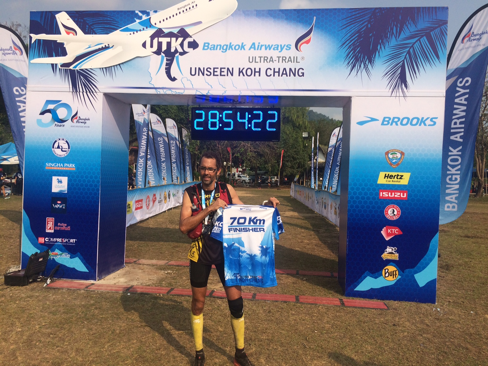 Fabien Bencler from New Caledonia won the 70K race