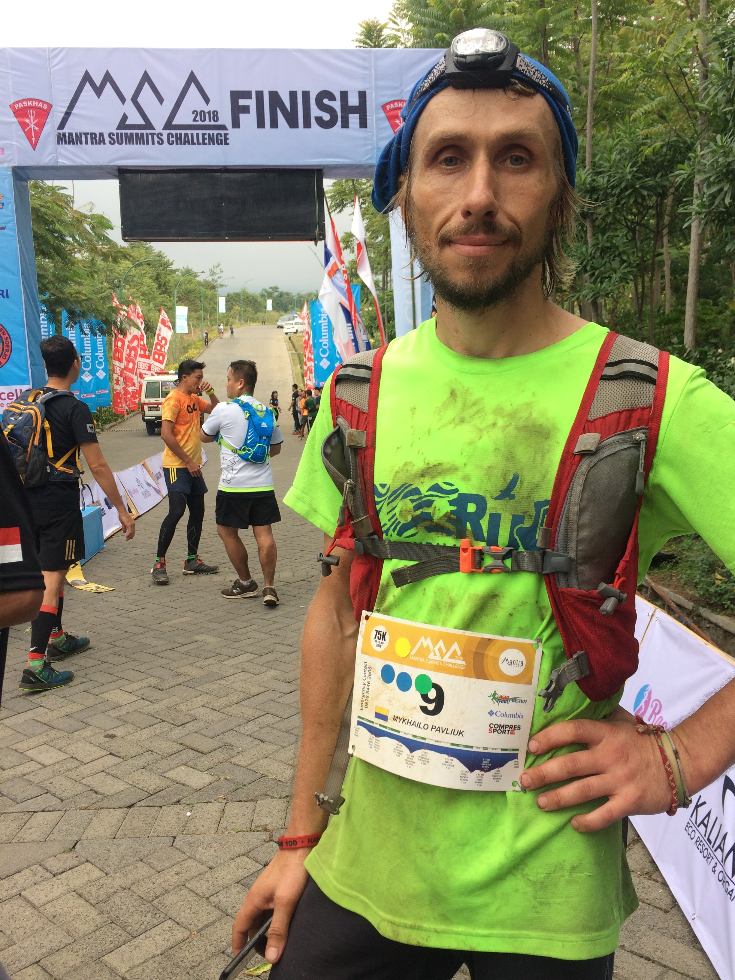 Mikhailo Pavliuk from Ukraine finished his first race of over 50 km in 4th place