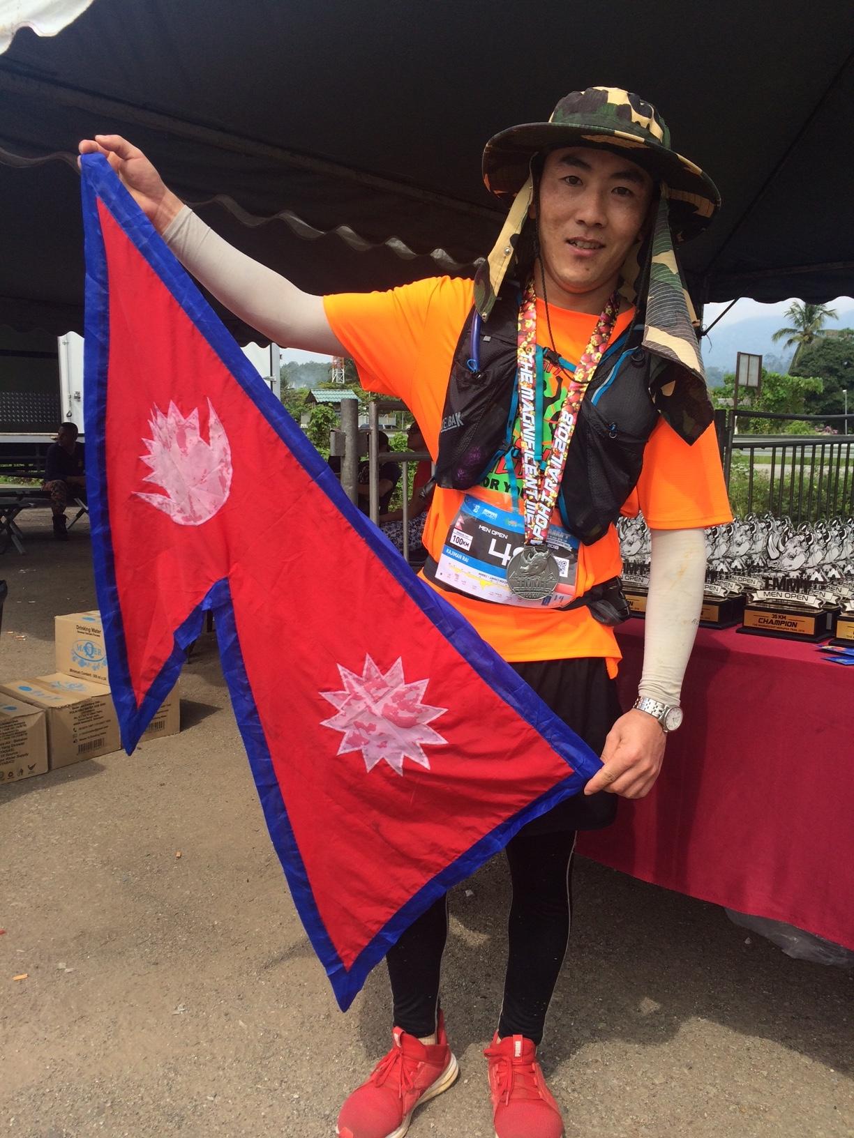 Kajiman Rai from Nepal was an excellent 7th in the 100km race
