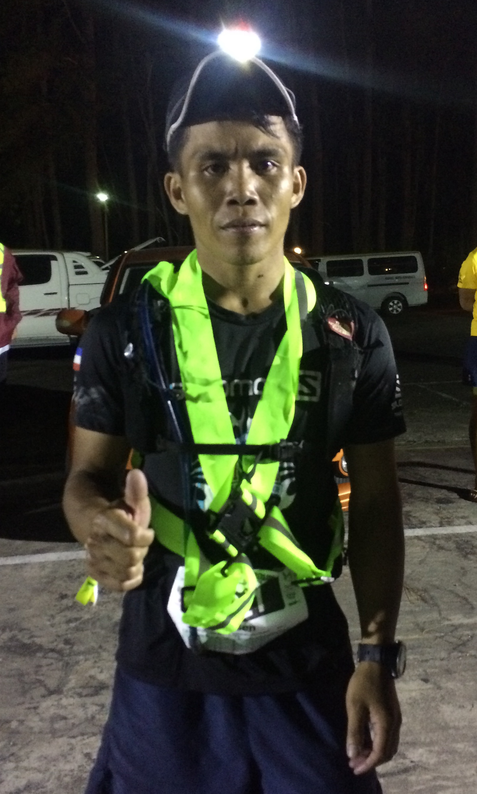 Wilsen Singgen is another Sabahan on the podium of the 100k, passing Milton Amat in the final kilometres