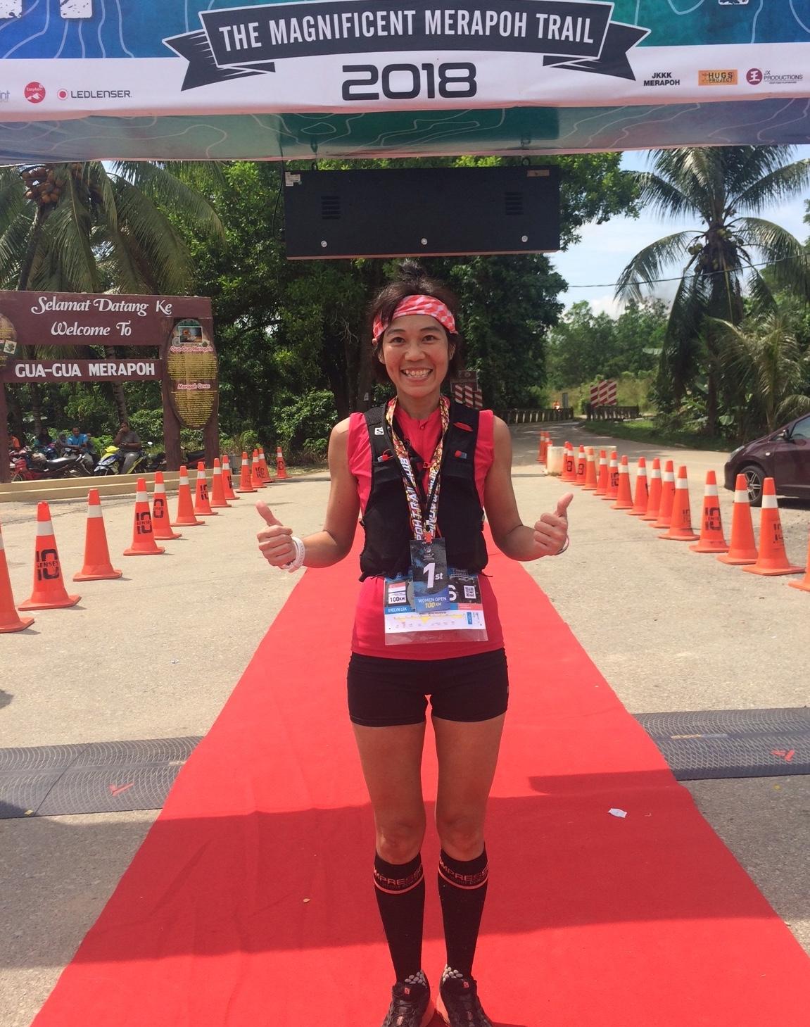 Evelyn Lek was impressive on her 100k trail debut at TMMT last month