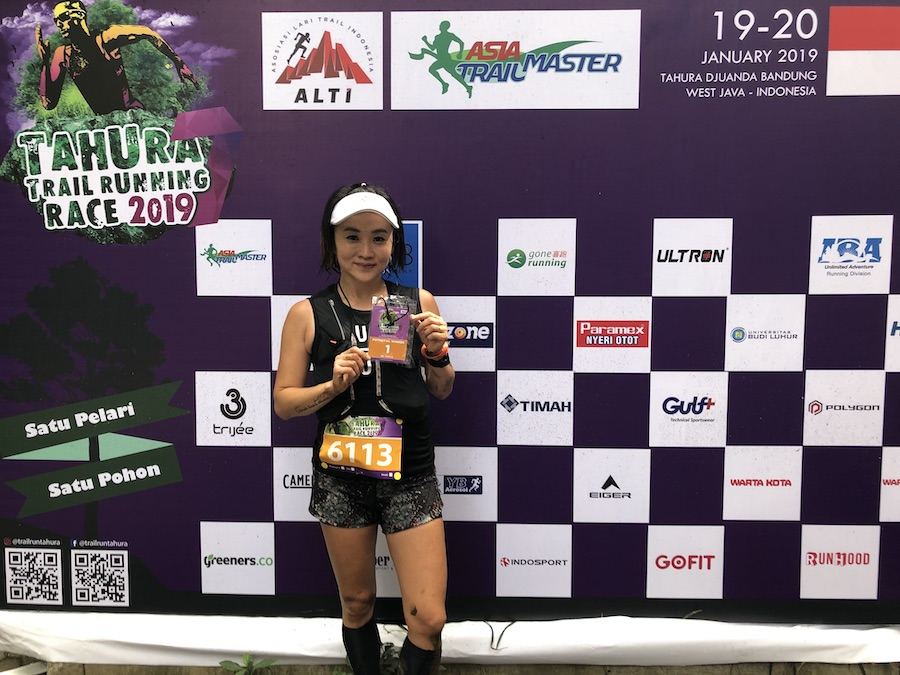 Debby Meylia won the 21K race ahead of Ruth Theresia, who was 'in training'. Still, a remarkable run by the road runner from Jakarta