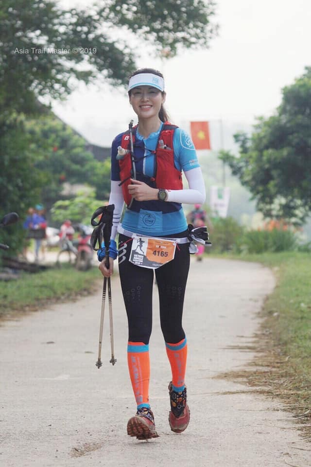 A Miss Vietnam in the VJM: Bellissima Thuy finished the 42 km race