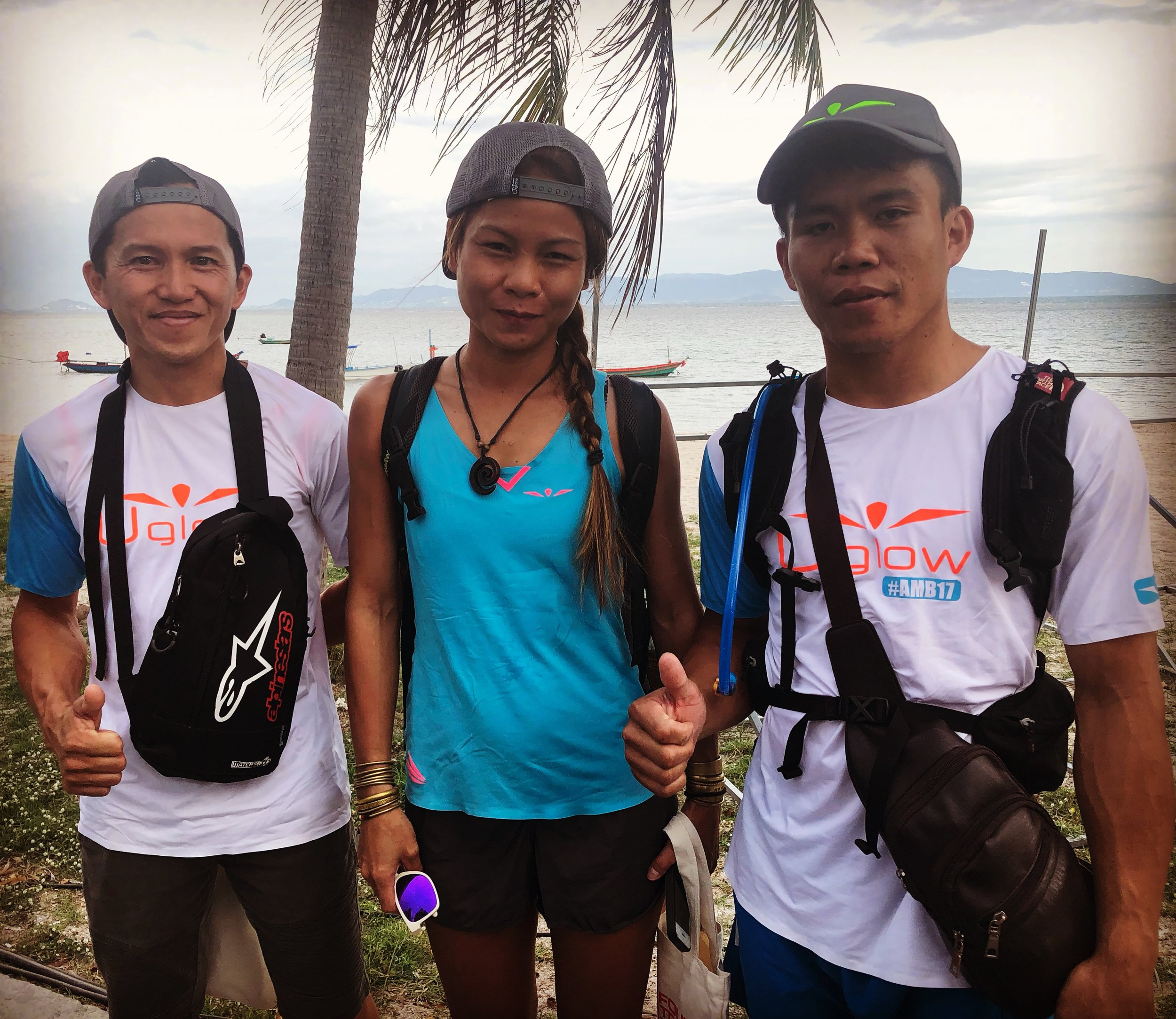 Milton, Jess and Wilsen: the three Sabahans from Team Uglow Malaysia were omnipresent last weekend