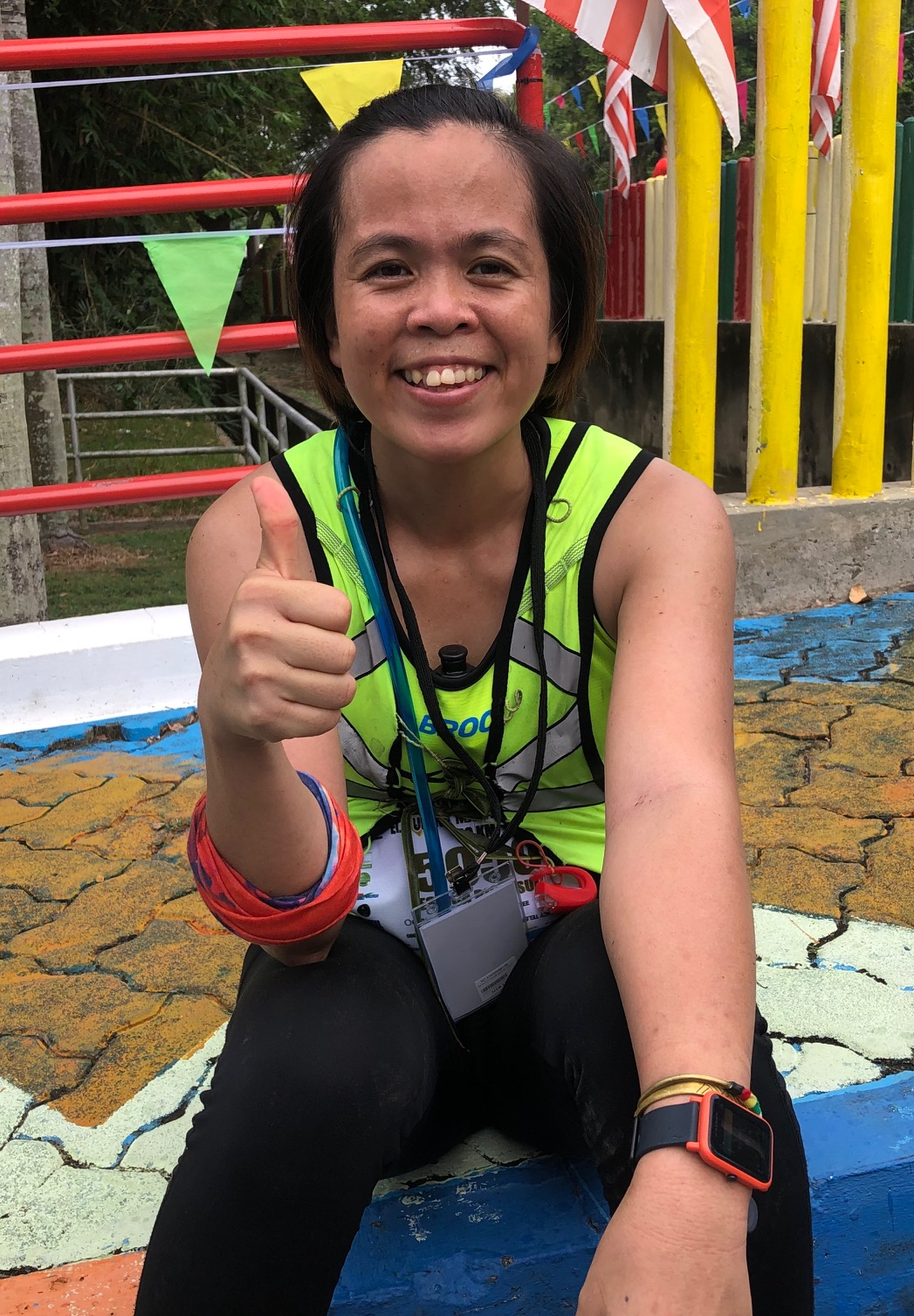 Local Labuan runner Jessica Binti was too fast for anyone else on the 50k for women