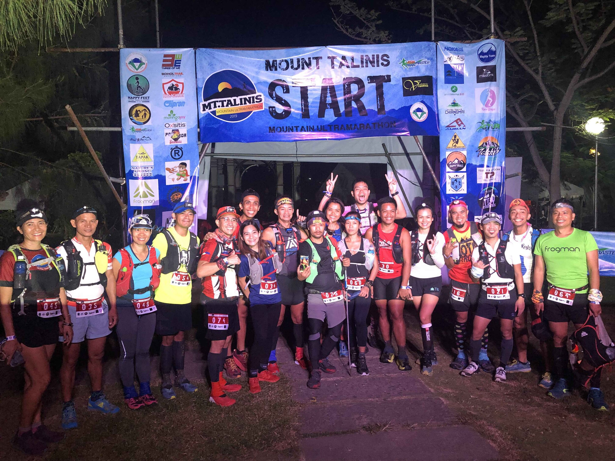 One group of the 333 runners who started the 70K and 50K race categories this weekend