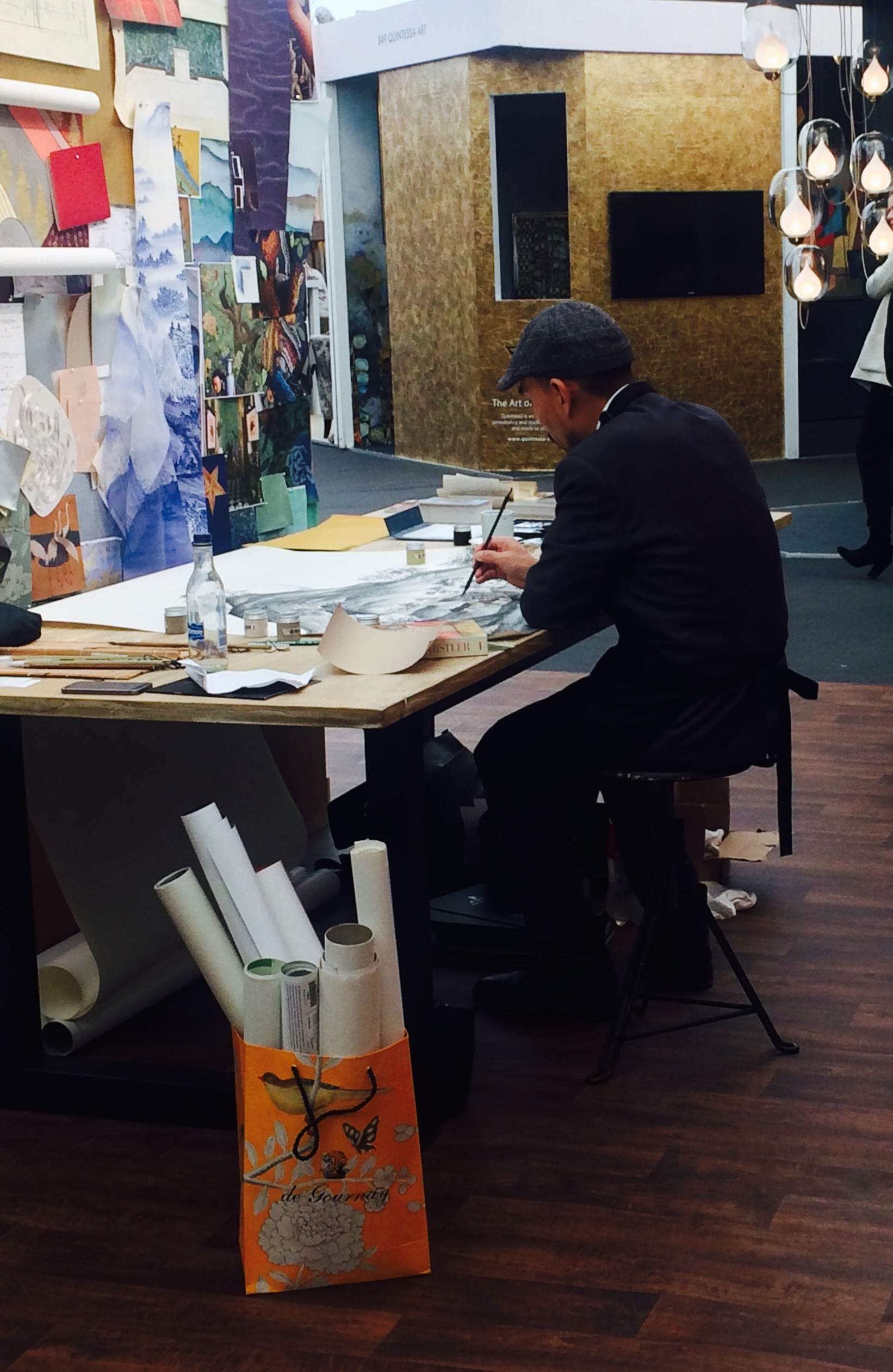 Making Luxury -  De Gournay  artist hand painting wallpapers