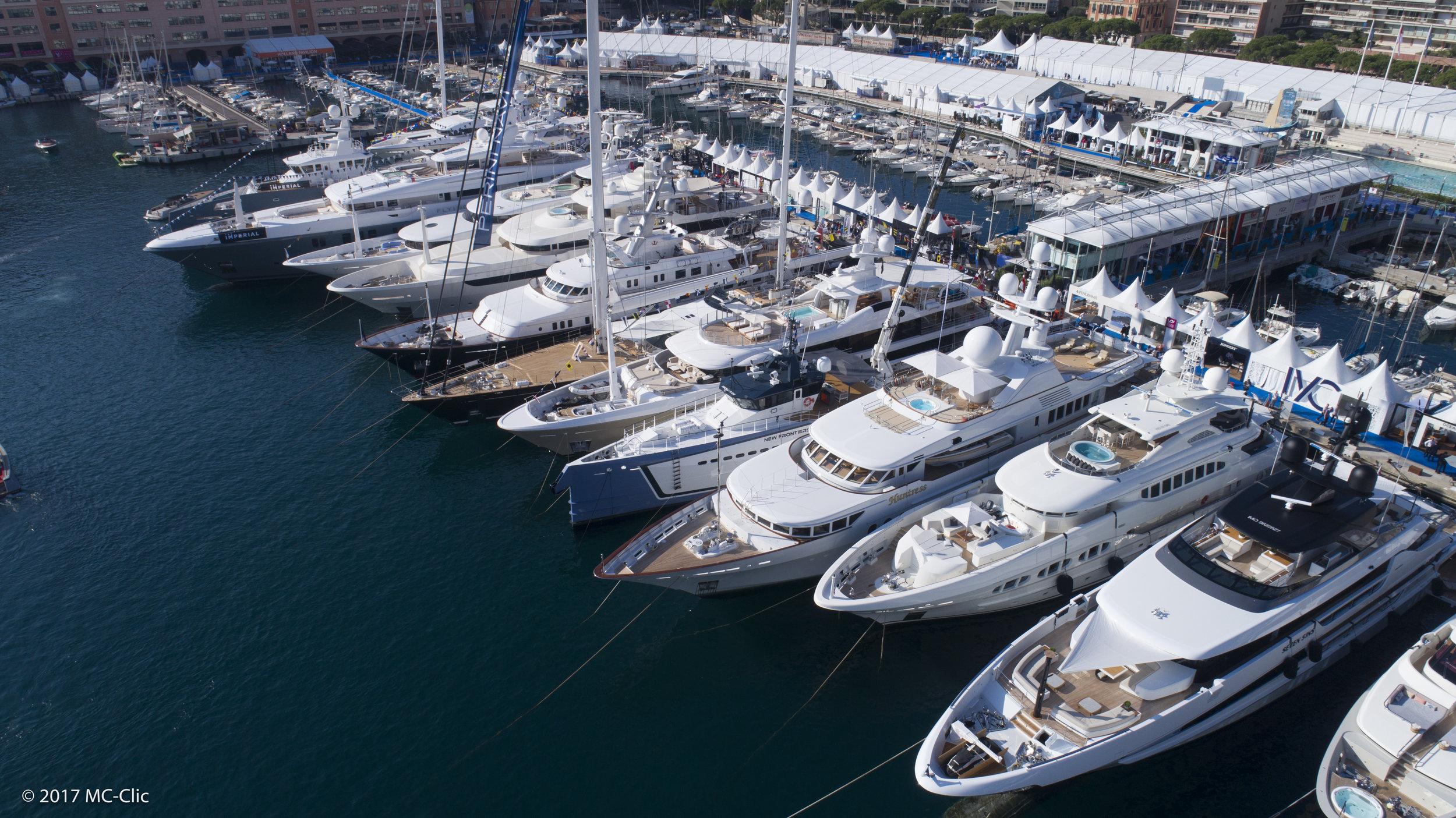 Port Hercules - Monaco Ⓒ  Monaco Yacht Show 2017
