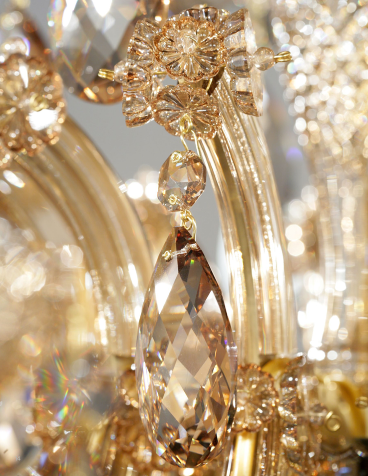 """Detail of """"Maria Theresa"""" crystal chandelier - 'Timeless Heritage' collection Ⓒ  Preciosa"""