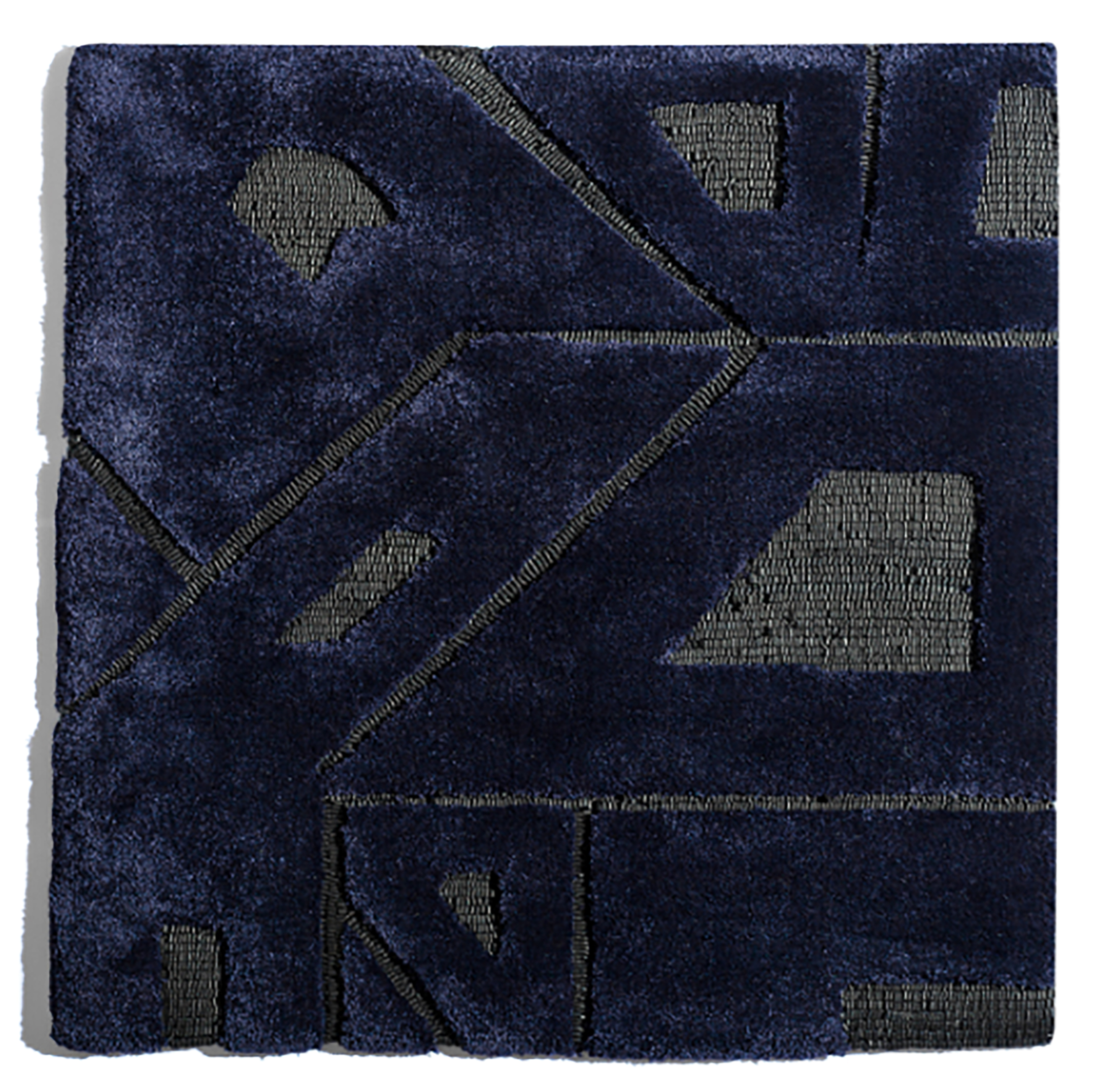 Hand-Tufted  rug, bamboo and leather blend, PhB design