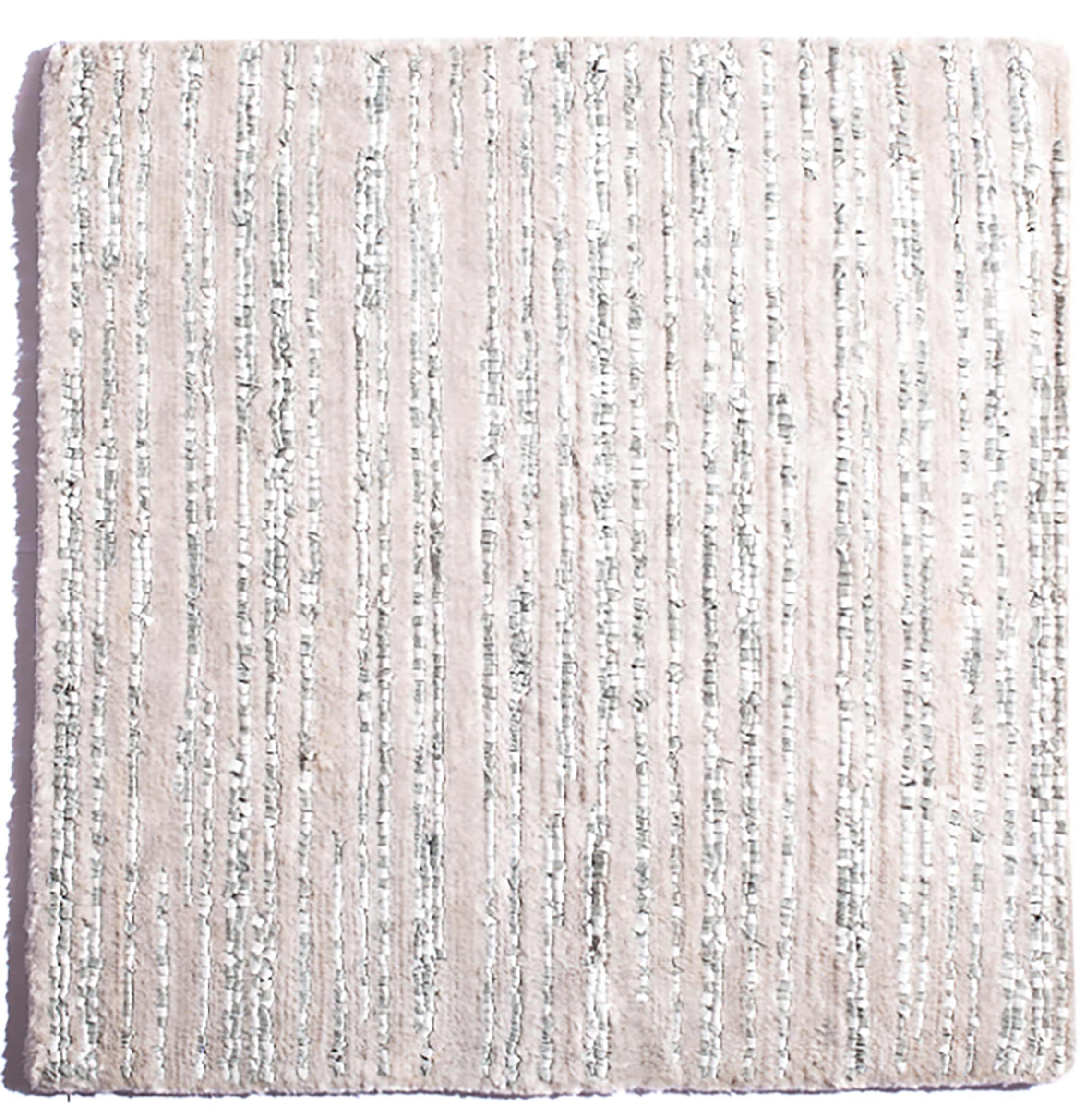 Hand-Knotted  rug, banana silk and leather blend, PhB design