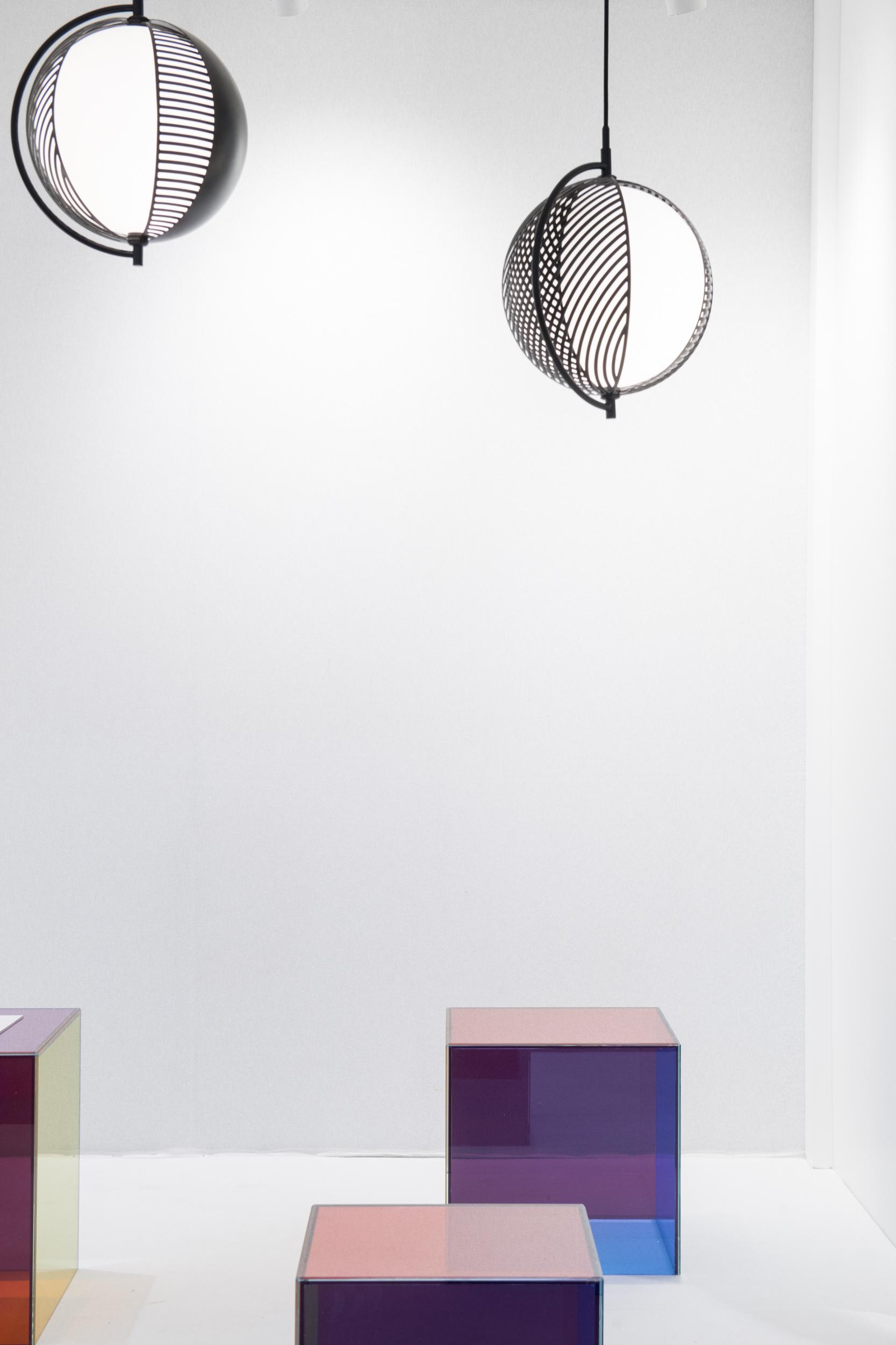 Mondo  pendant light and  Luce  tables designed by Giulio Cappellini and Antonio Facco for  Cappellini  © Maison&Objet