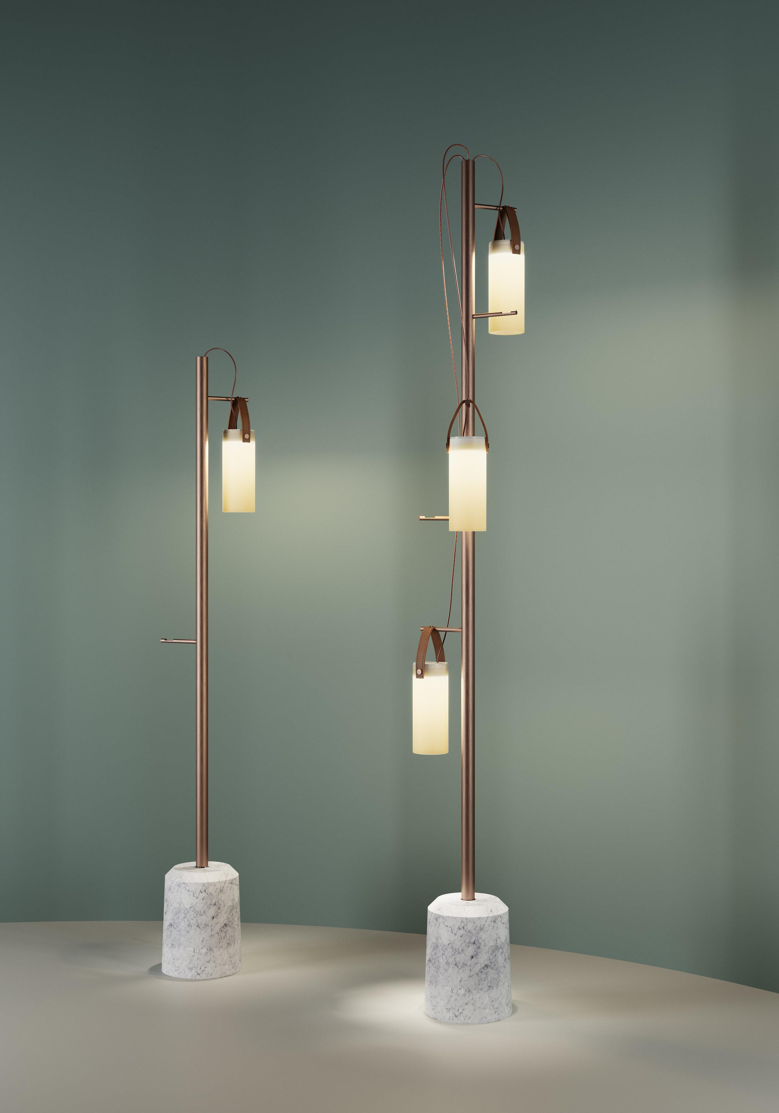 Galerie  floor lamp, designed by Federico Peri for  FontanaArte