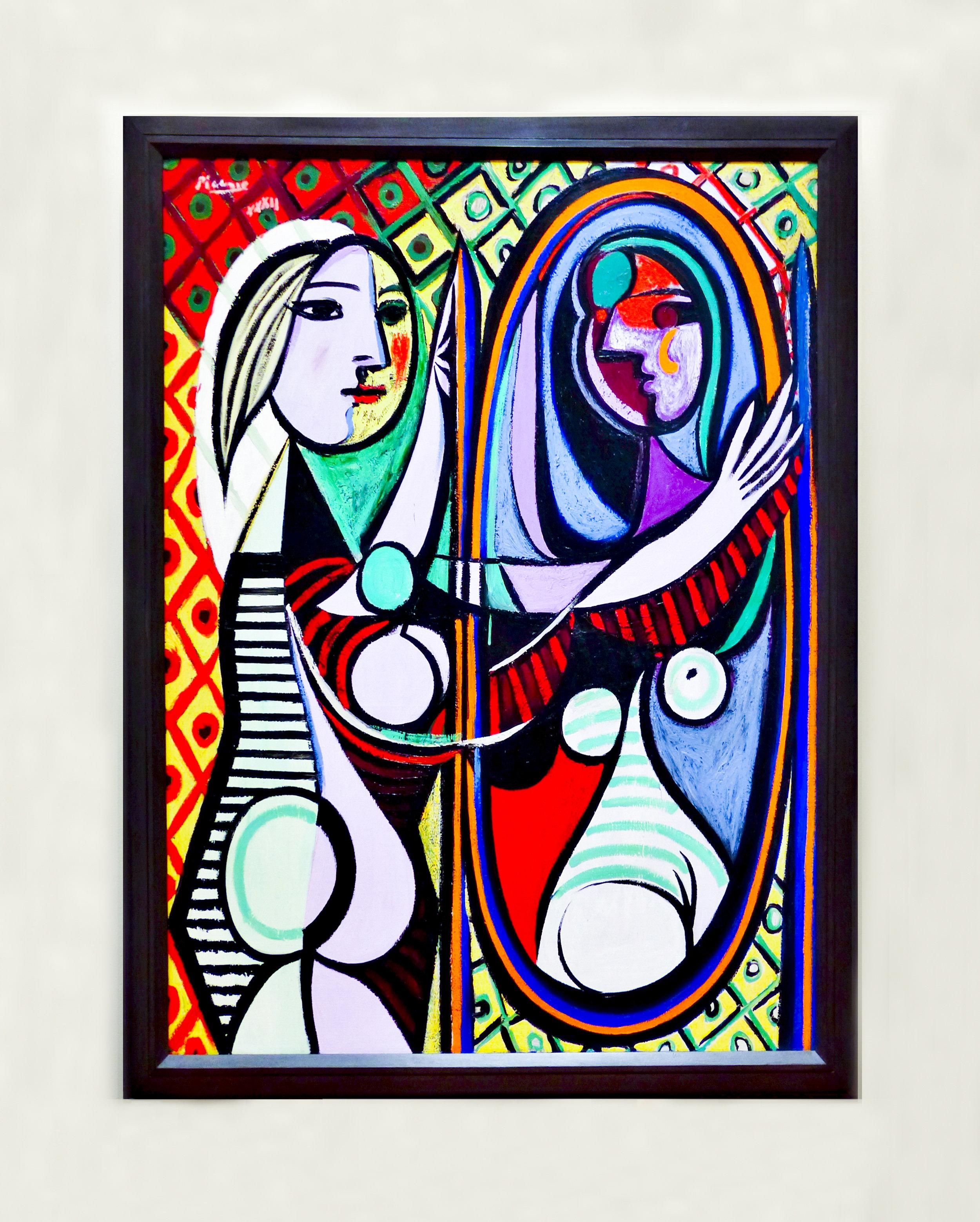Pablo Picasso, 'Jeune file devant un miroir', March 1932, oil on canvas, Museum of Modern Art, New York