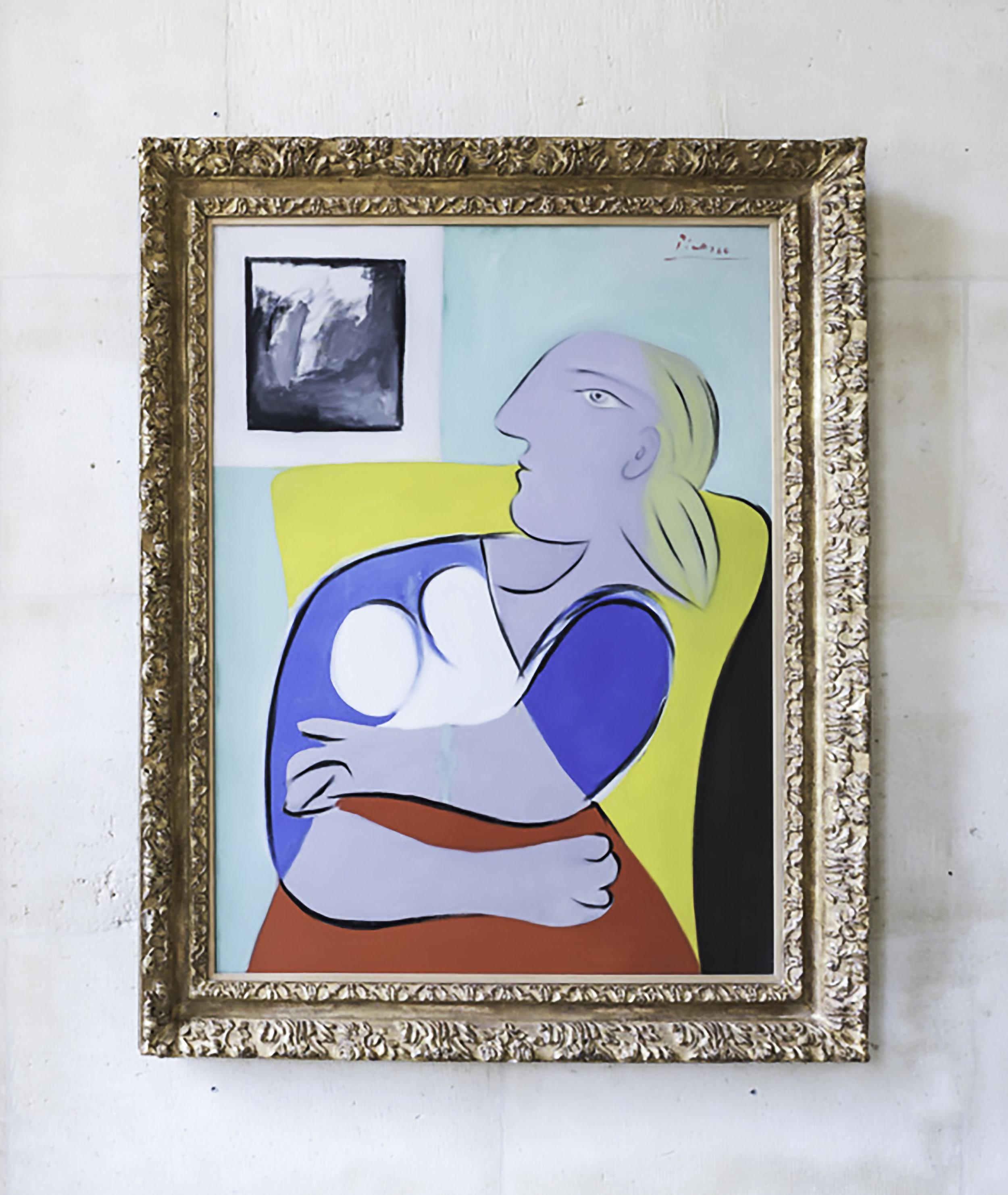 Pablo Picasso - 'Femme dans un fauteuil jaune' 1932, oil on canvas