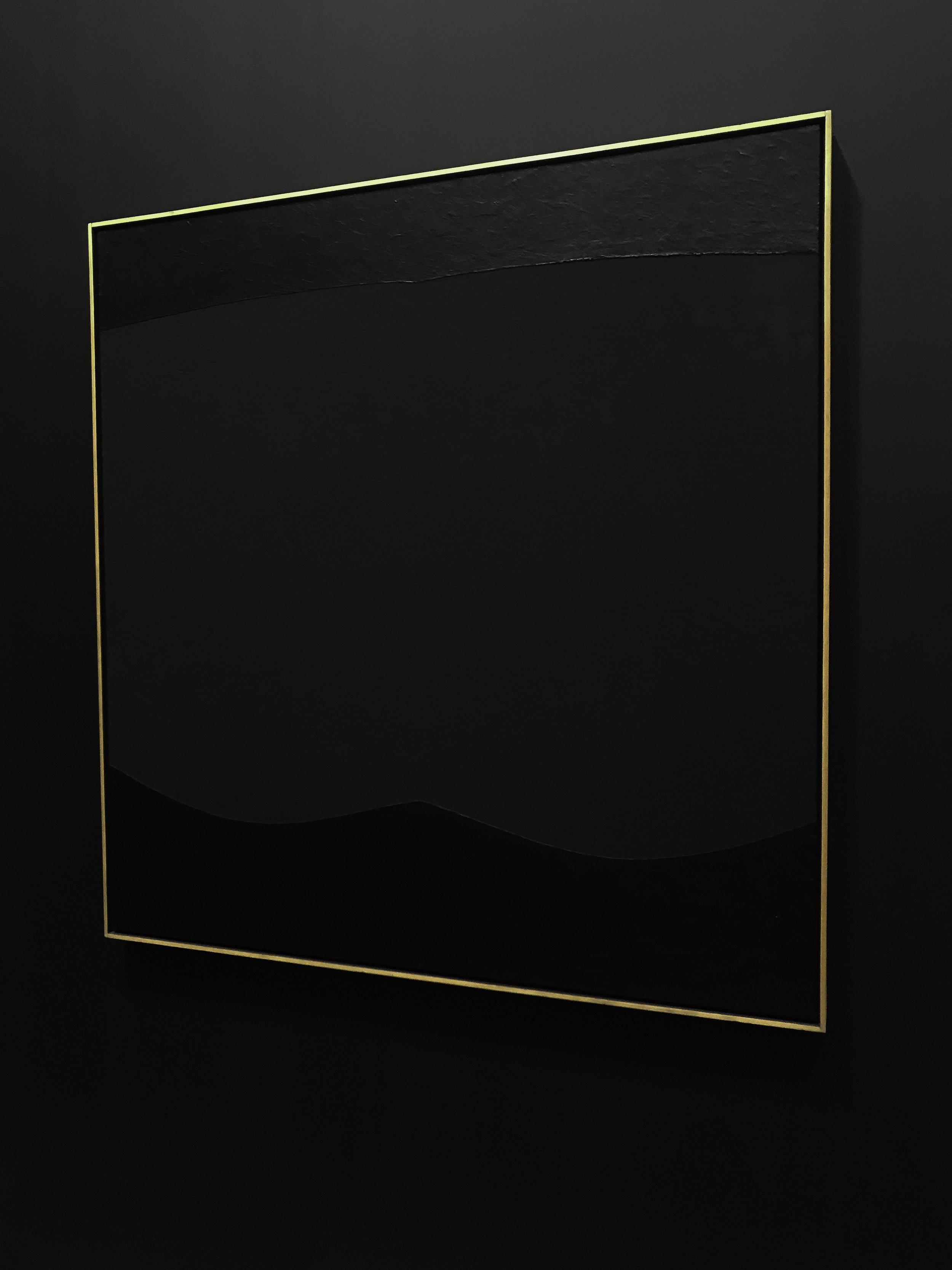 Alberto Burri,  Nero Cellotex , 1975 - 1987 Acrylic and vinavil on celotex