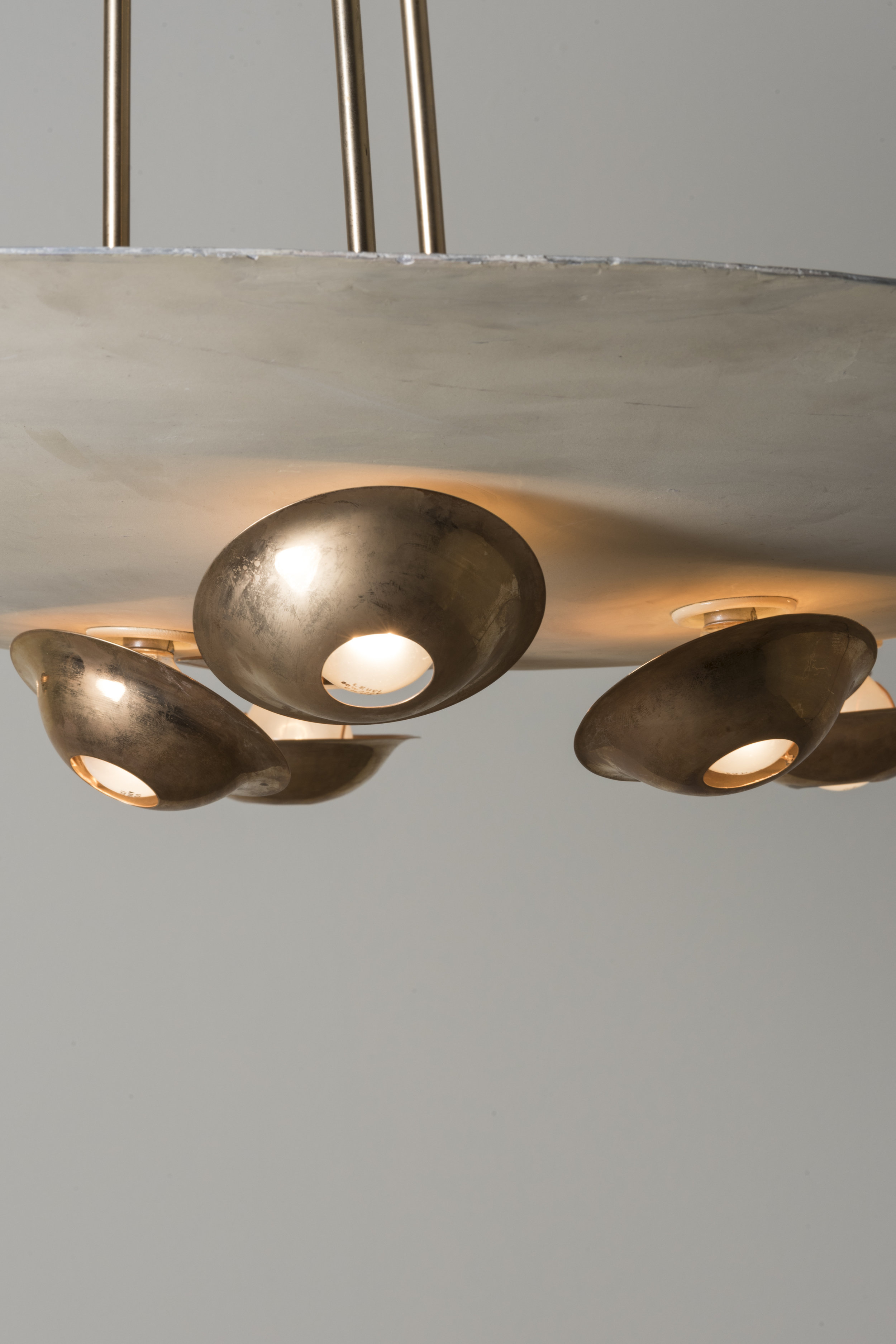 Detail of Ceiling lamp, Italy, 1940s  Design: Gino Sarfatti Manufactured and signed by Arteluce  ⓒ Nilufar Gallery