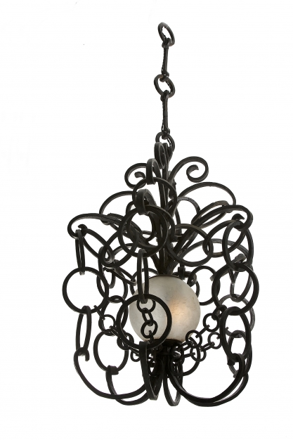 Ring Lanterns, Richard Desvallières, 1893-1962, wrought iron and frosted glass 60 x 80 cm Courtesy of Galerie Régis Mathieu