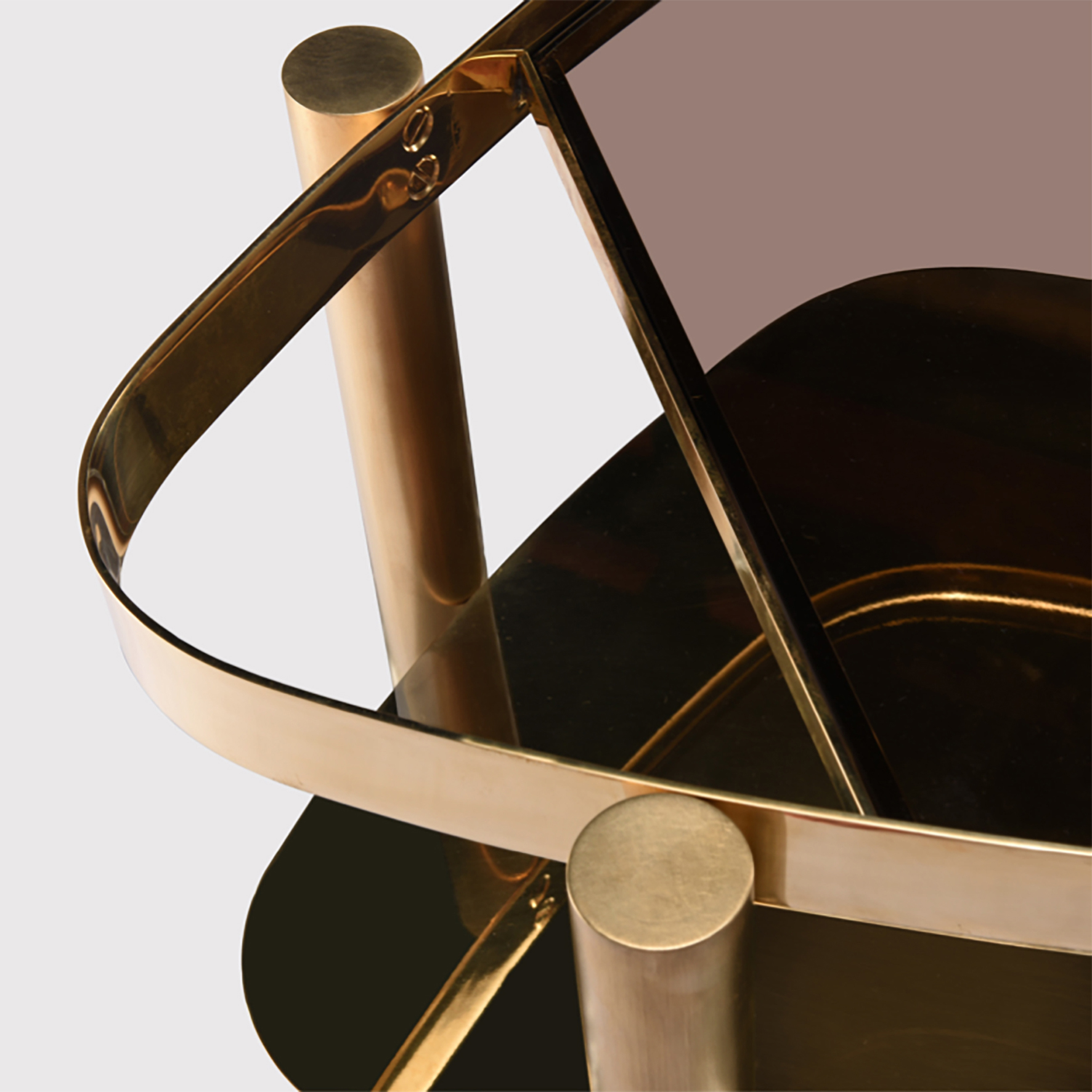 BIJOU side table, detail of brass frame © OKHA
