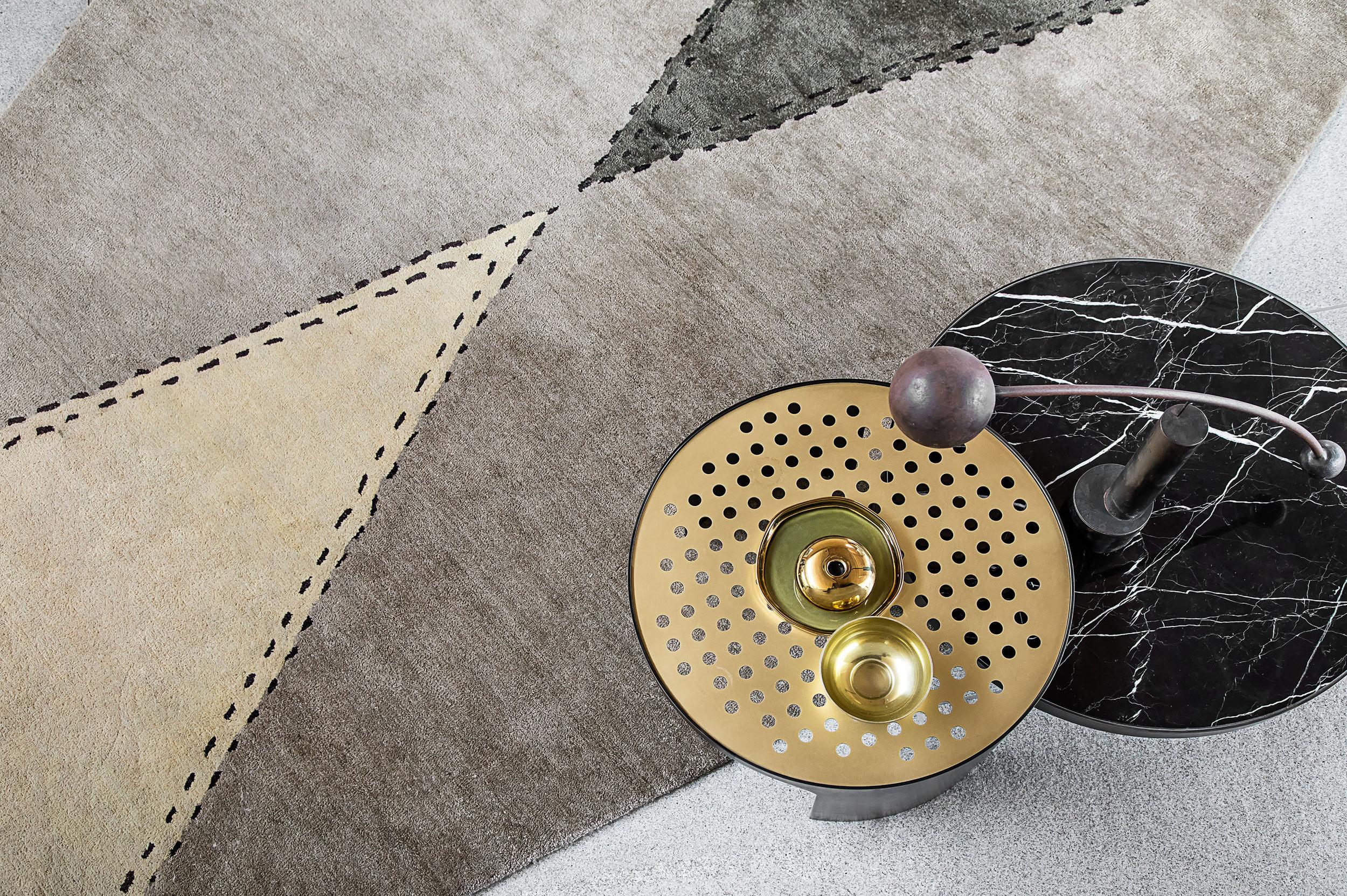 Diamond  rug & Silo Coffee Table © Niel Vosloo