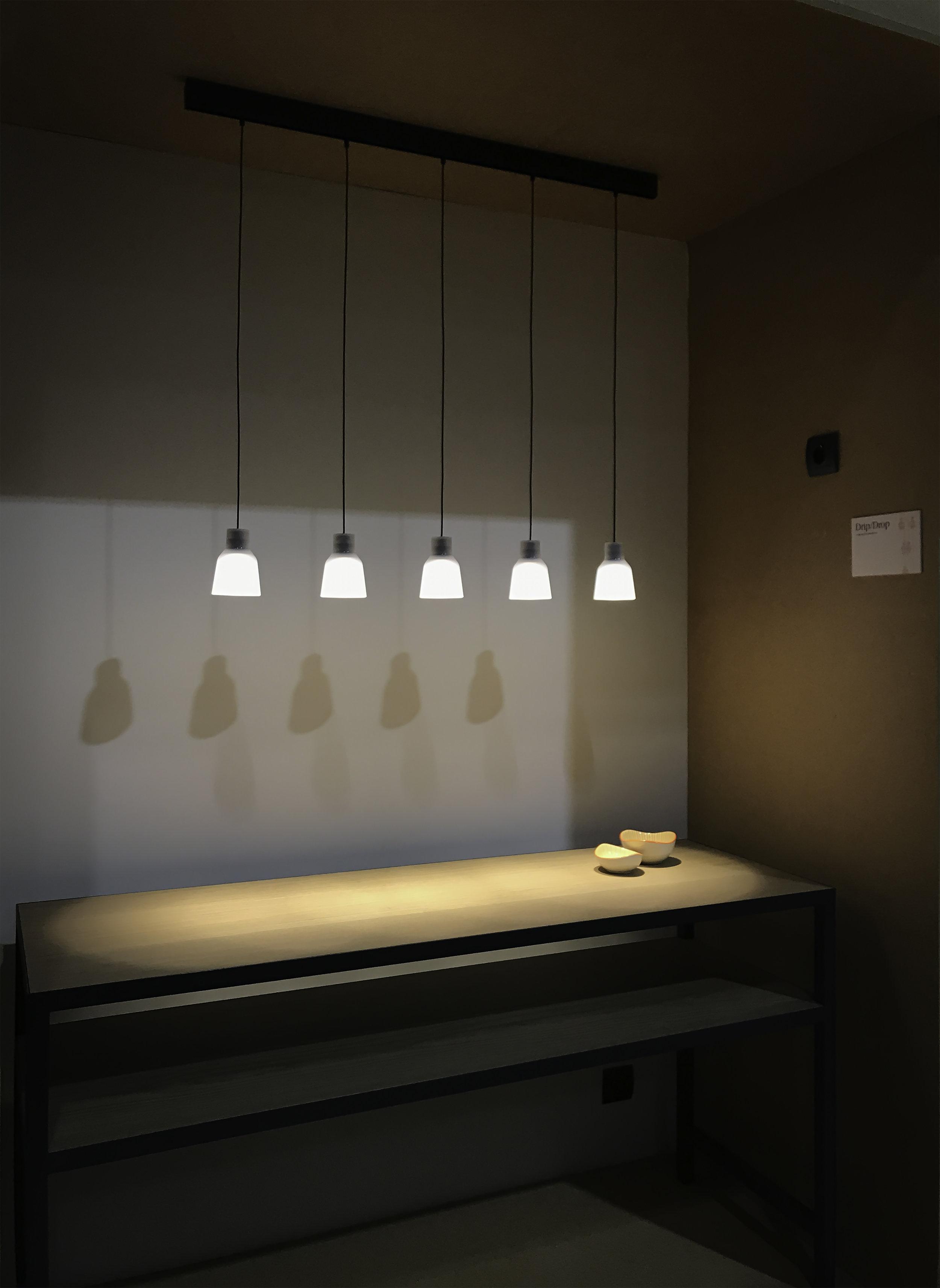 Drip  pendant light, Euroluce 2019 Design: Christophe Mathieu