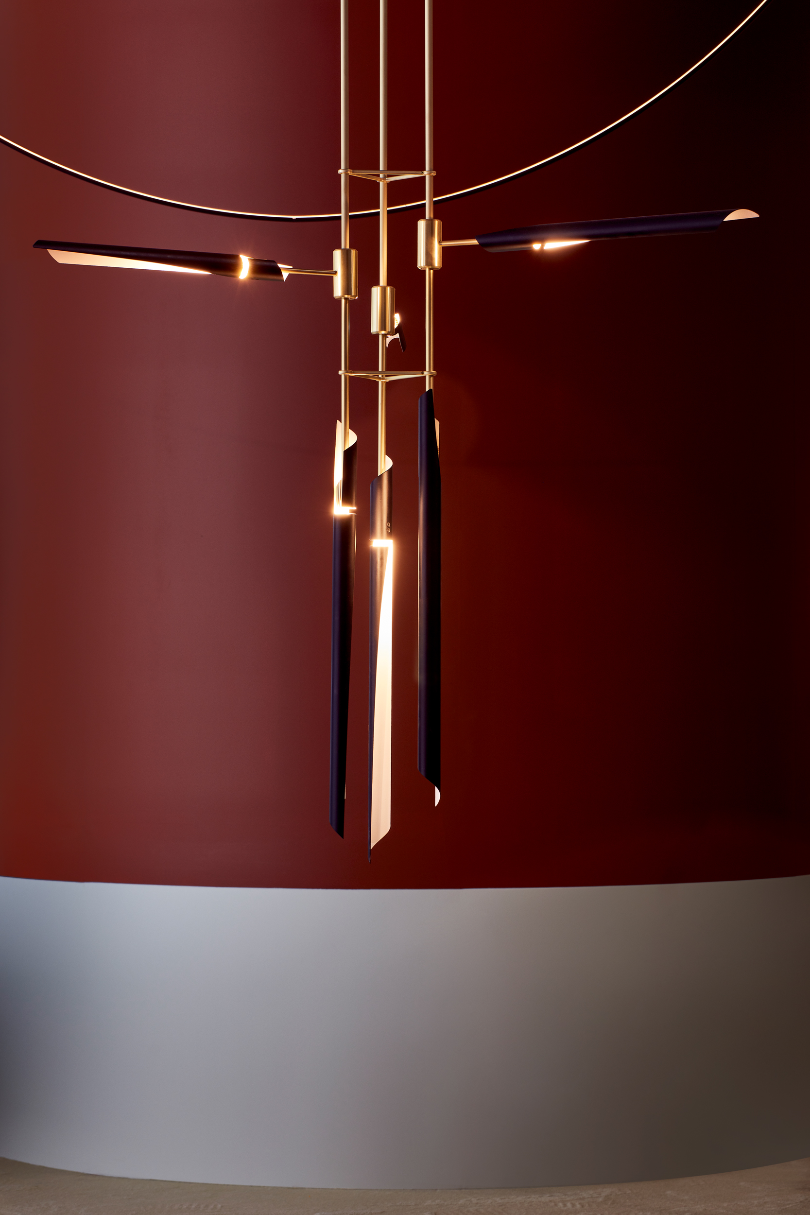 Boden  pendant, detail, Euroluce 2019, © Mark Cocksedge Design: David Weeks Studio