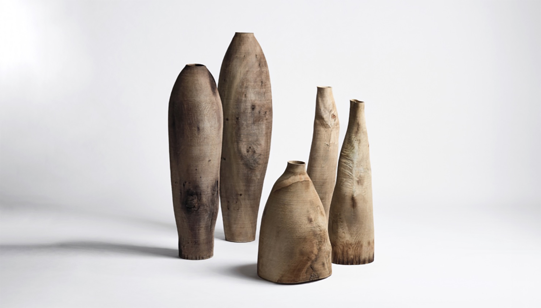 Artist: Ernst Gamperl   Oak Vessels 2019  @ Bernhard Spöttel    Gamperl's oak vessels received the Loewe Craft Prize in 2017 and were on display at Sarah Myerscough Gallery booth - Masterpiece London 2019