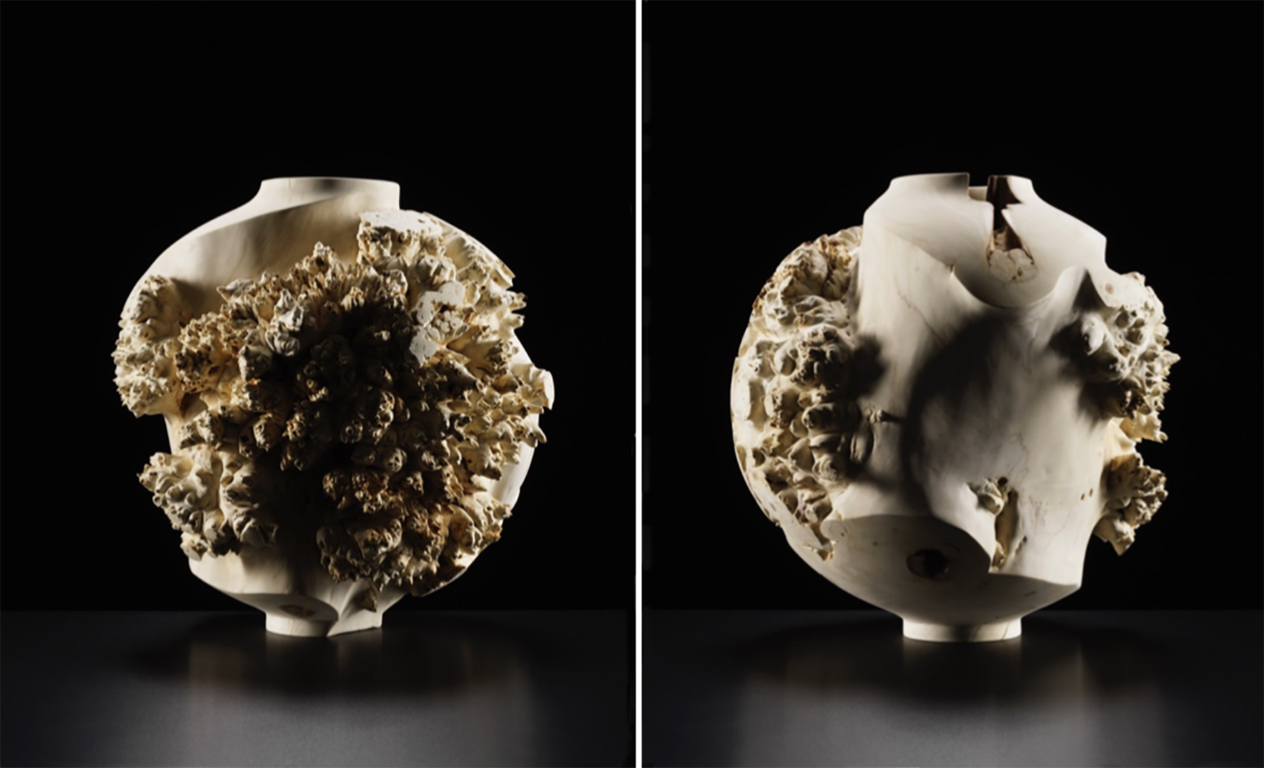 Artist: Eleanor Lakelin   Echoes of Amphora: III/19  ⓒ Michael Harvey Horse Chestnut Burr The  Echoes of Amphora  series was on display at Sarah Myerscough Gallery booth - Masterpiece London 2019
