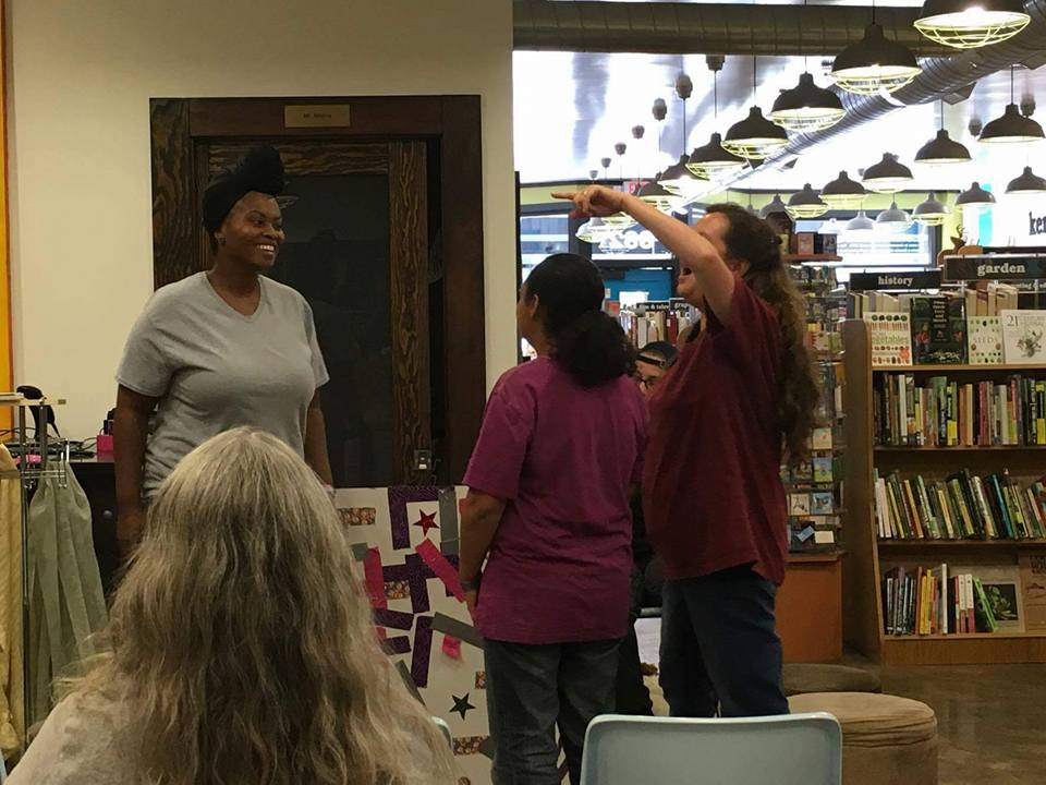 Performance at Morris Book Shop in Lexington, 2016.