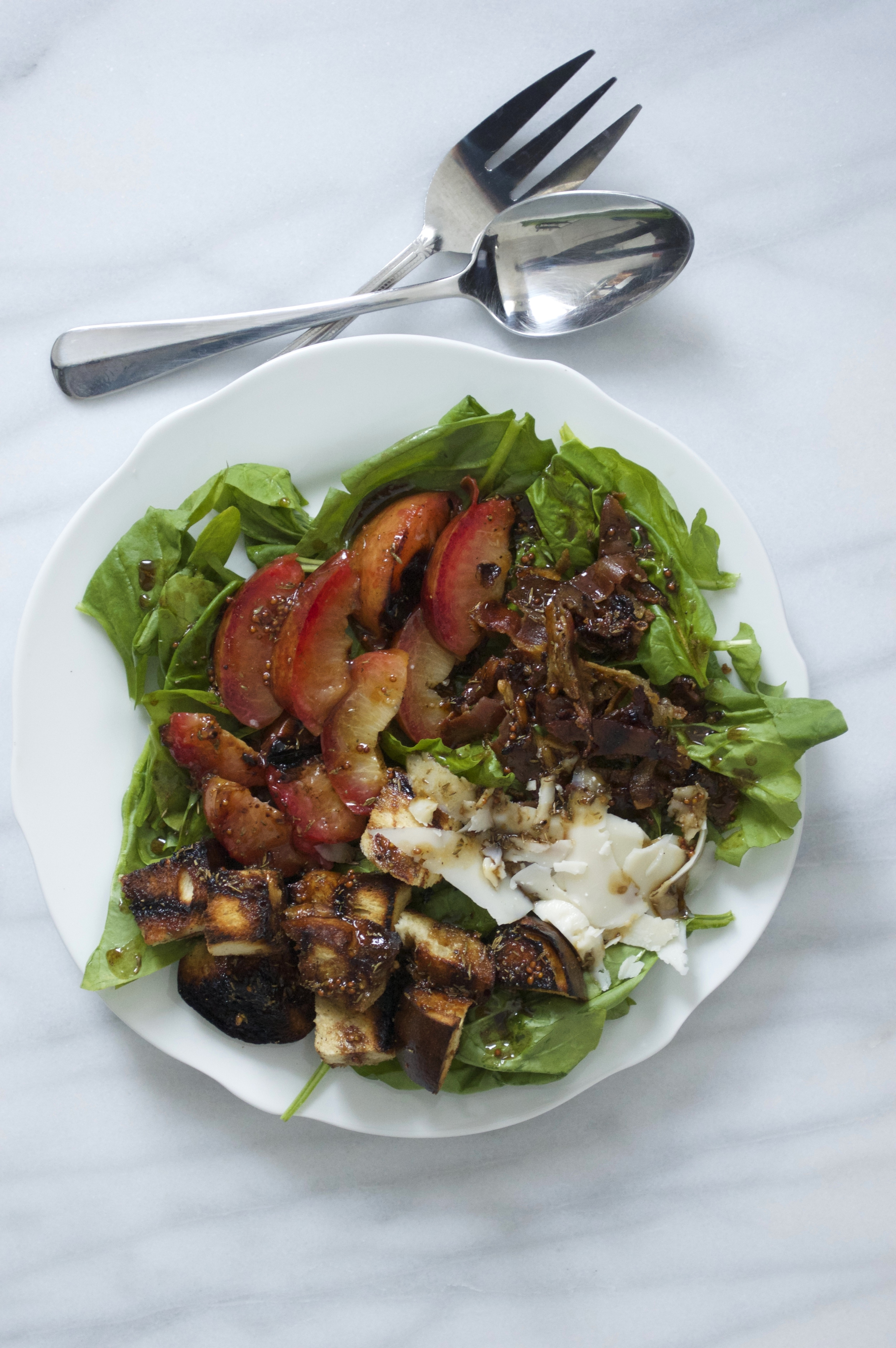 spinach-salad-grilled-plums-challah-croutons-goat-gouda-molasses-and-mayhem.jpg