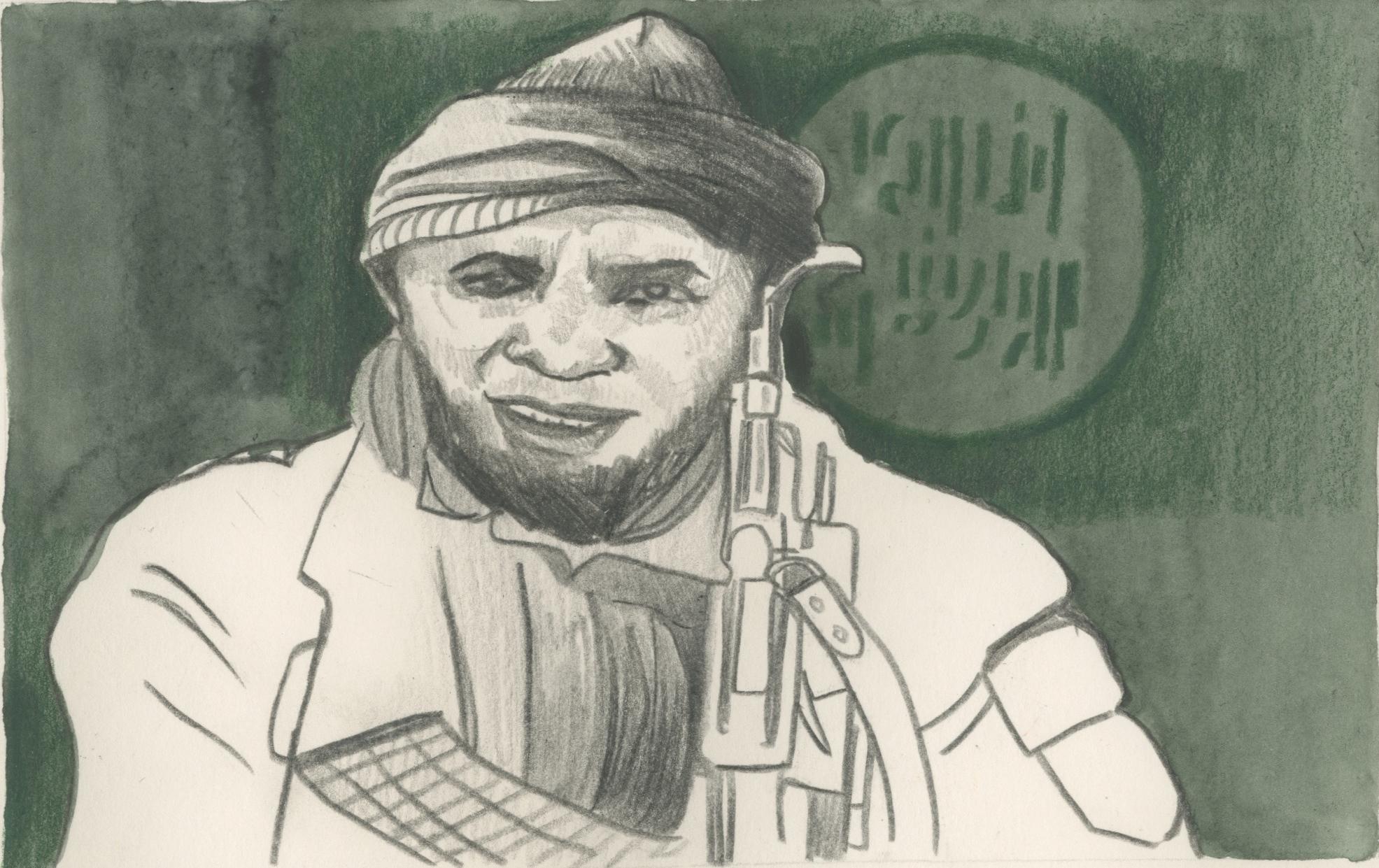 10/01/15 Abubakar Shekau, leader of Boku Haram, the militant Islamic group which murdered over 2,000 people in Northern Nigeria