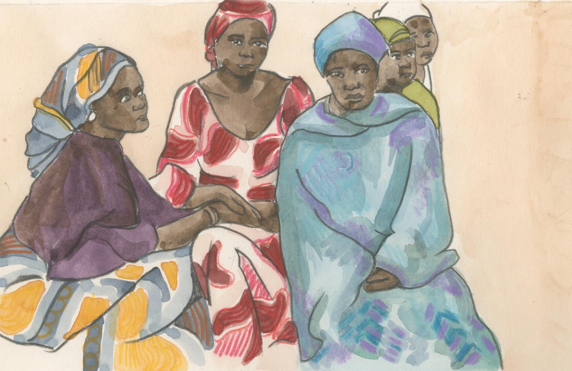 02/02/15 School girls risking their lives to defy Boko Haram and return to school in Chibok, Nigeria