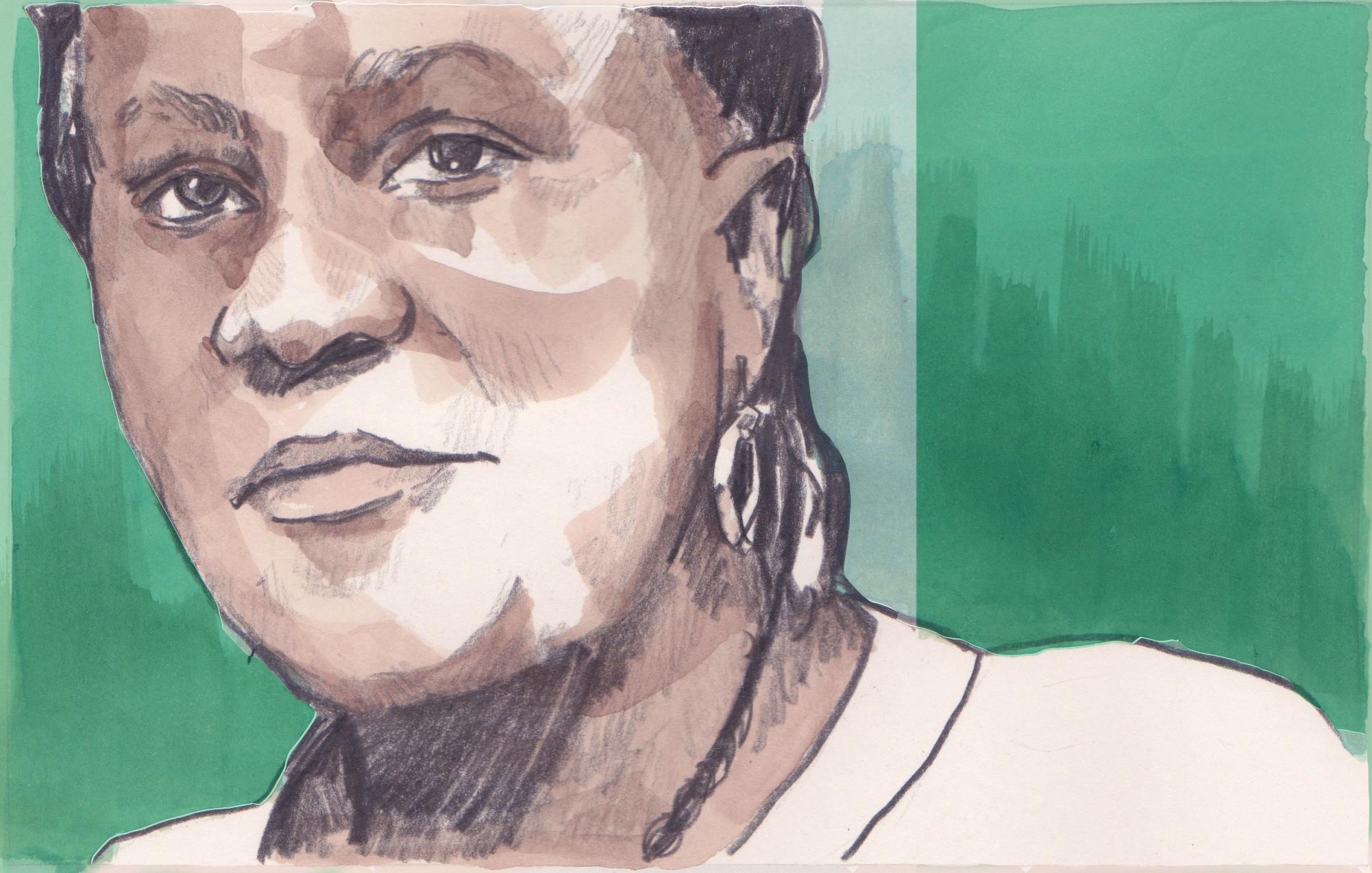 27/03/15 Professor Reni Sonaiya is the first woman to run for president in Nigeria