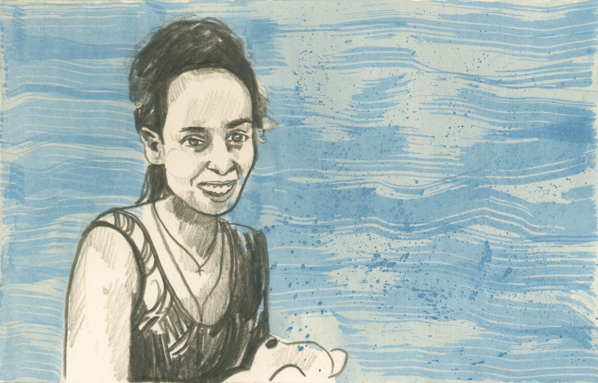 26/04/15Wegasi Nebiat who fled Eritrea and travelled to Sudan and Turkey and nearly drowned when being smuggled in to Rhodes, Greece