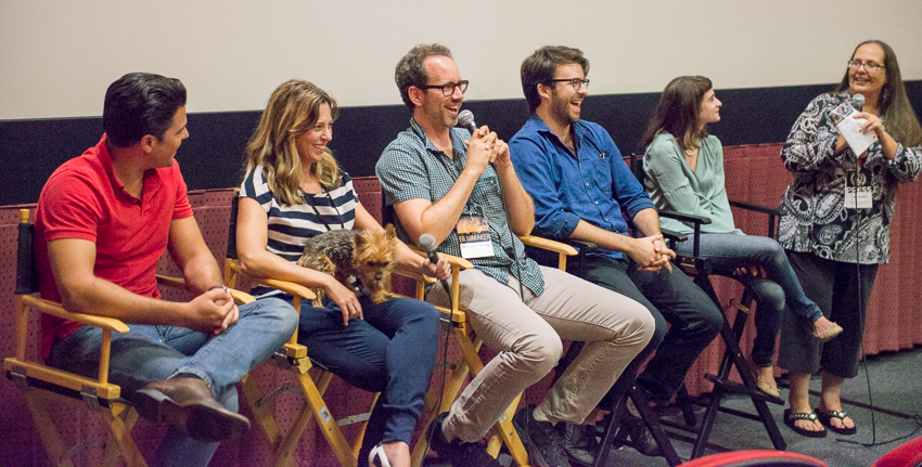 Cast & crew Q & A (L-R) Edward Winters, Kasi Brown, Brandon Walter, Garrett O'Brien, Shaina Vorspan and the moderator
