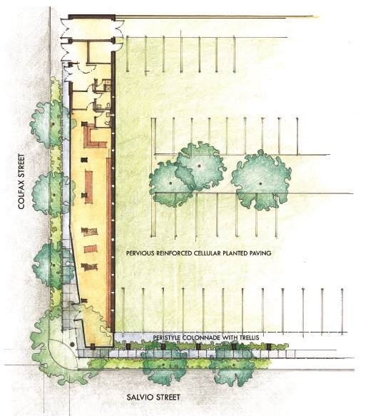Plan rendering of site