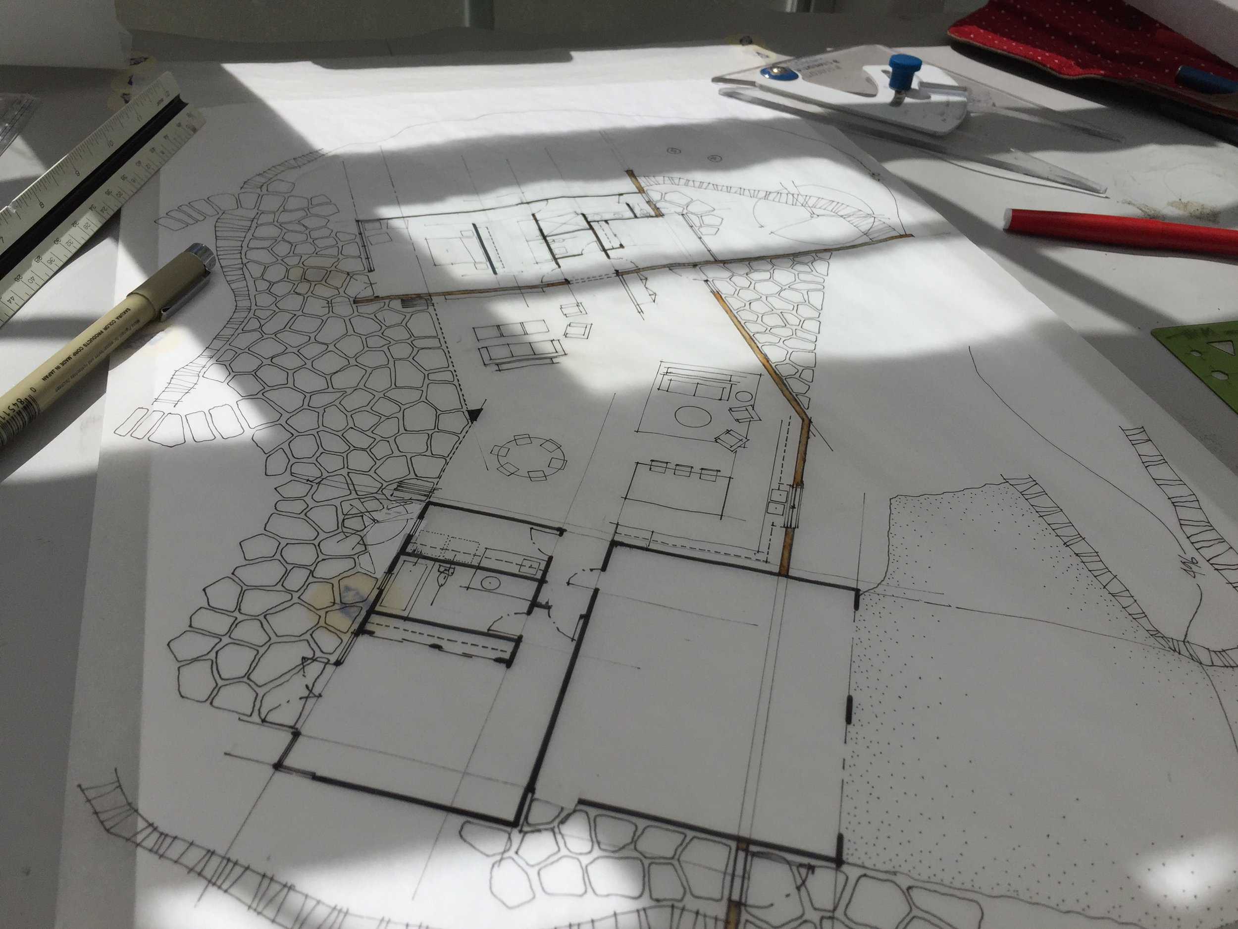 Plan study for replacement residence in Santa Rosa