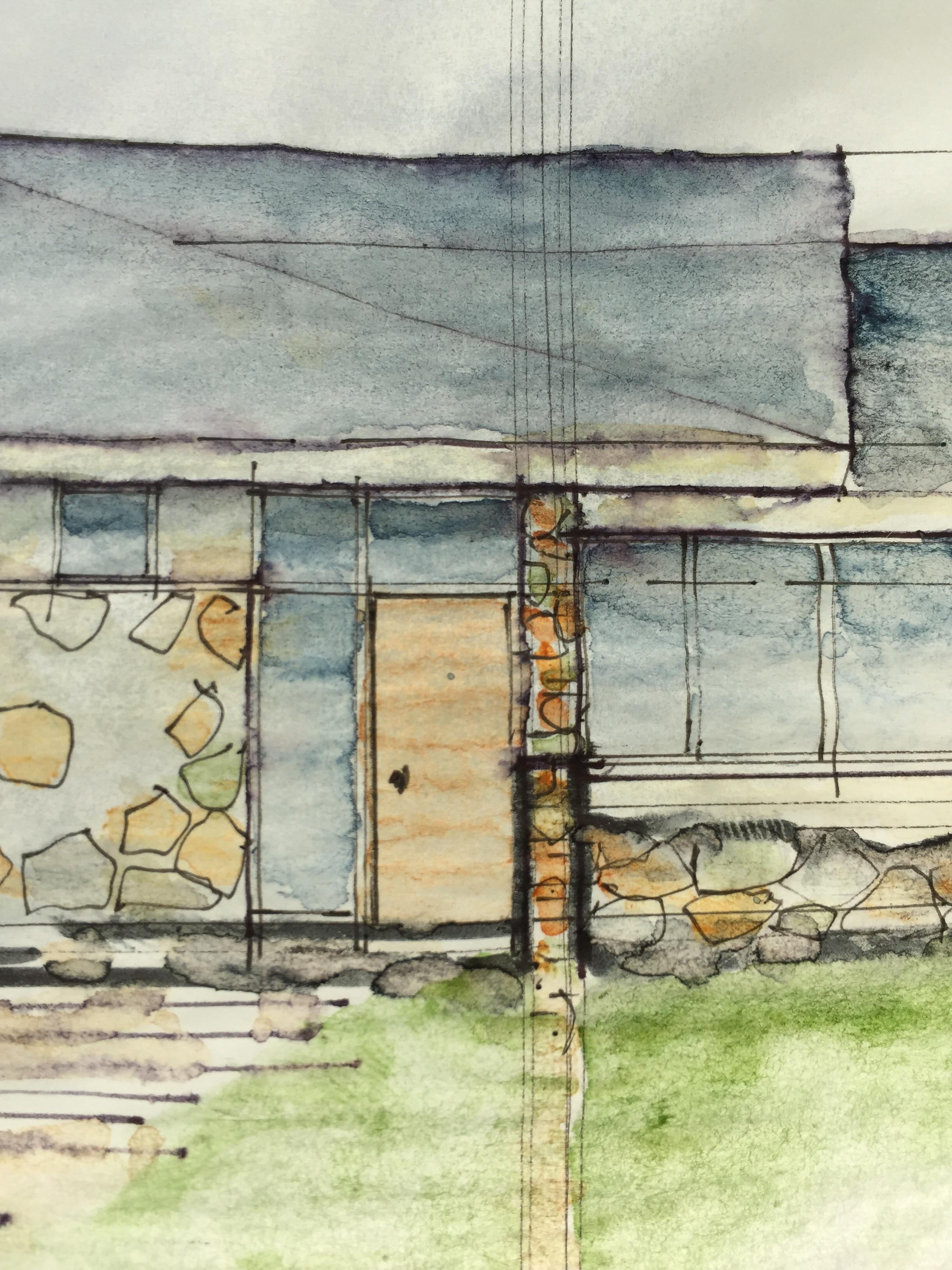 Quick watercolor elevation study