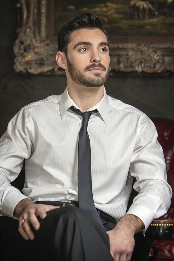 Contemplative Man with Beard