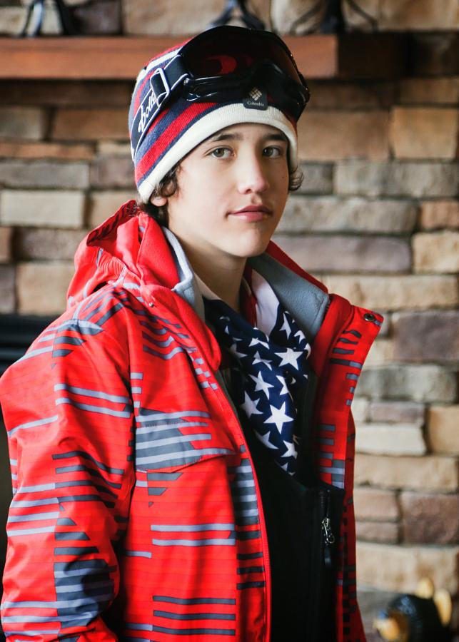 Boy in Ski Gear