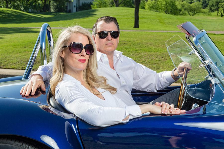 Posh Couple in a '66 Cobra