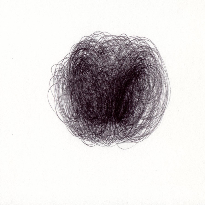 "blob 4  pen on paper 5"" x 5"" 2014"