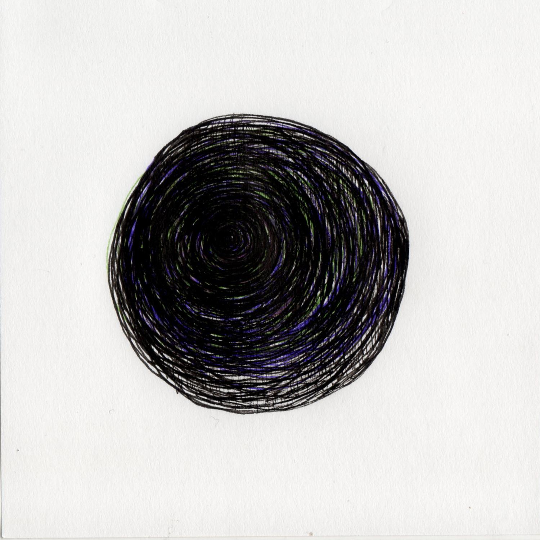 "blob 3  pen on paper 5"" x 5"" 2014"