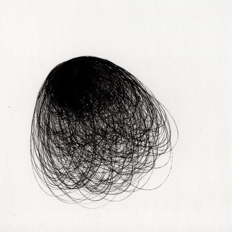 "blob 9  pen on paper 5"" x 5"" 2014"