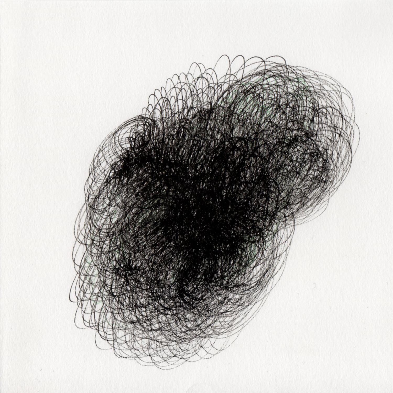 "blob 11  pen on paper 5"" x 5"" 2014"
