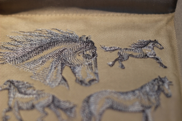 Friesian Horse Sketch Design by Embroidery Library