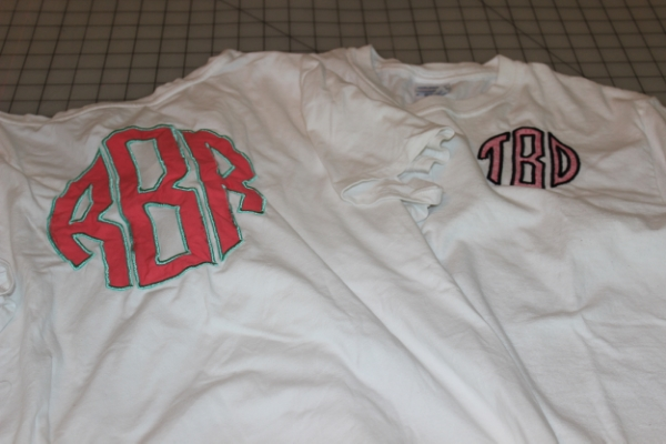 The original t-shirt and another larger version on the back of the t-shirt