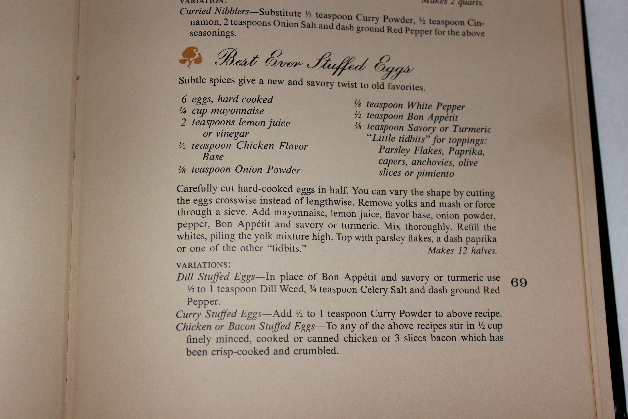 Deviled Egg Recipe from  Spices of the World Cookbook  by McCormick