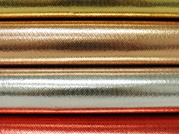Oly-Fun™ Metallic  in luscious colors of gold, rose gold, silver, and red